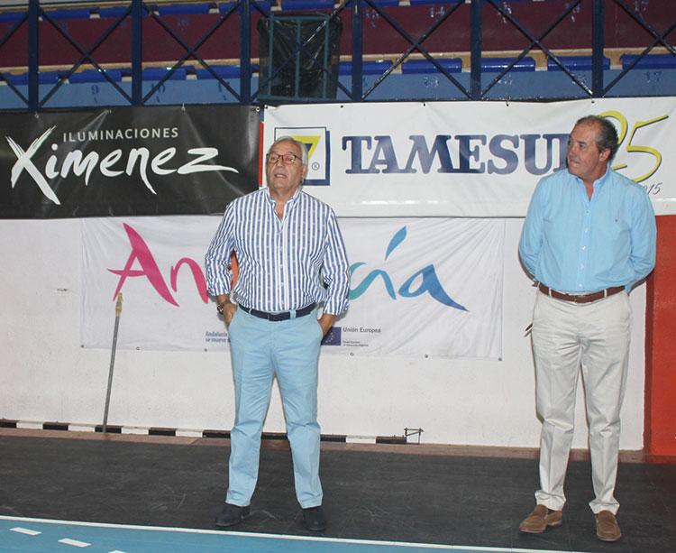 Mariano Mansilla junto a su tesorero Francis Pérez