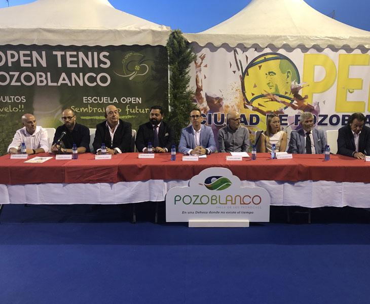 La presentación del Open en Pozoblanco