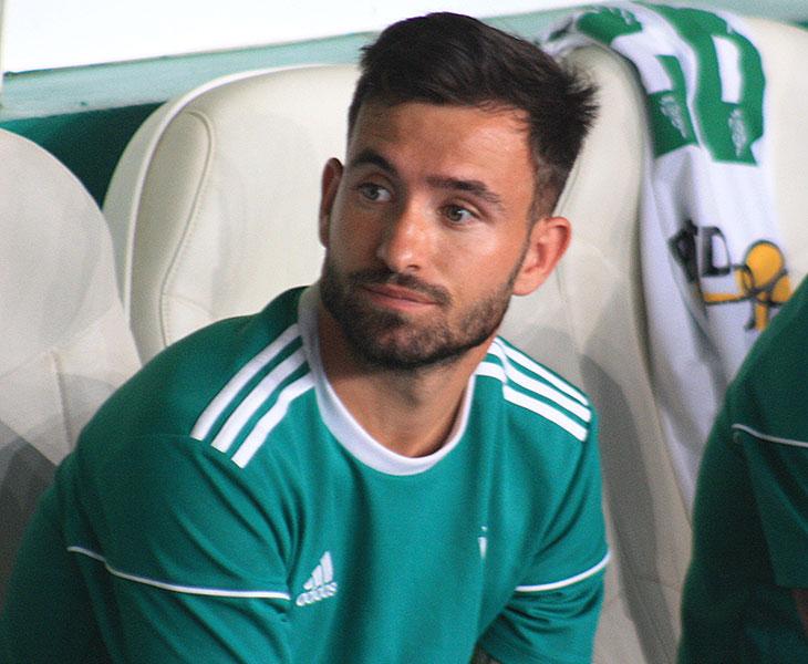 Sebas Moyano este sábado tras empezar el partido en el banquillo ante el Rayo Vallecano