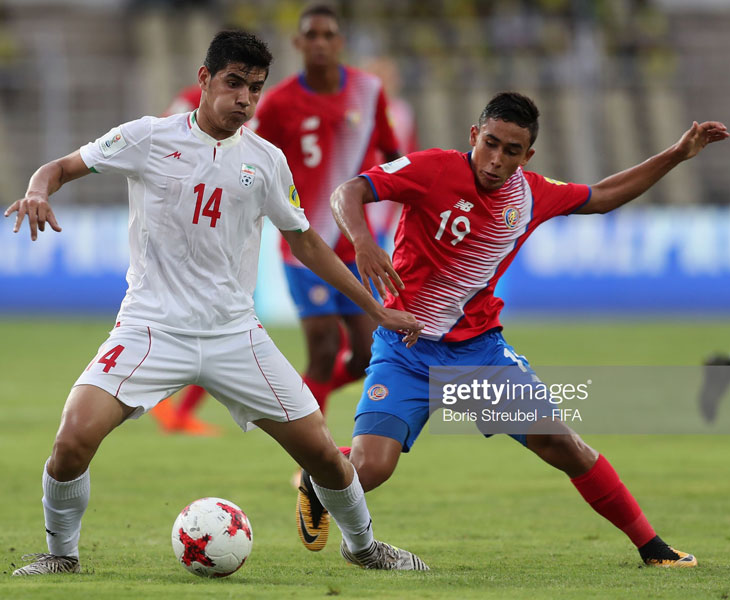 Sebastián Castro en el Mundial sub 17 con Costa Rica