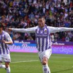 Sergi Guardiola celebrando uno de sus goles con el Real Valladolid