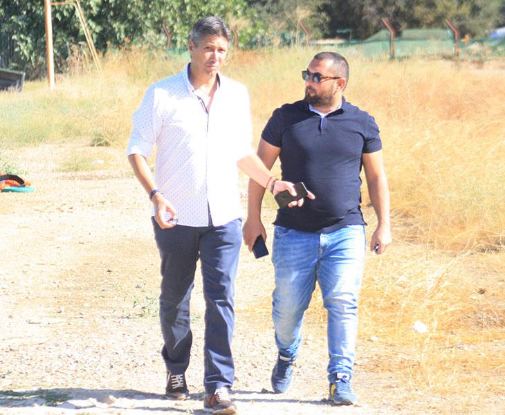 Alfonso Serrano y Jorge Rodríguez de Cózar al término del entrenamiento