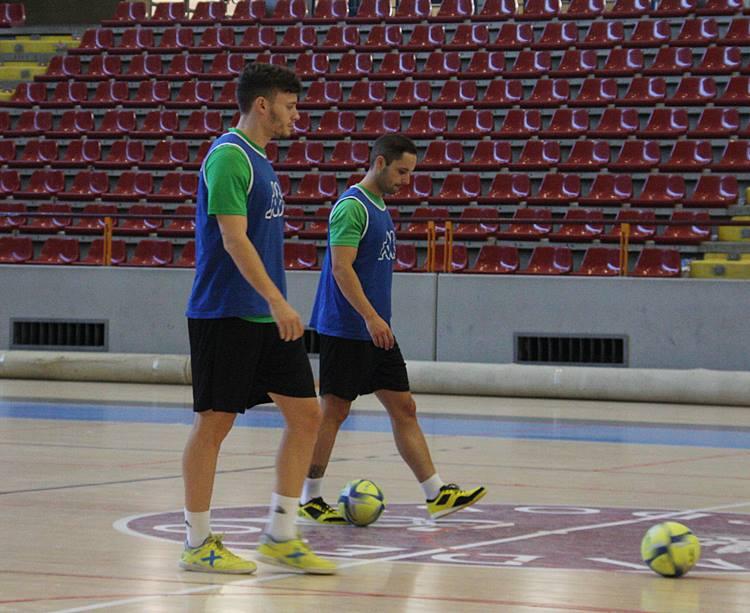 Cristian y Manu Leal en un momento del entrenamiento