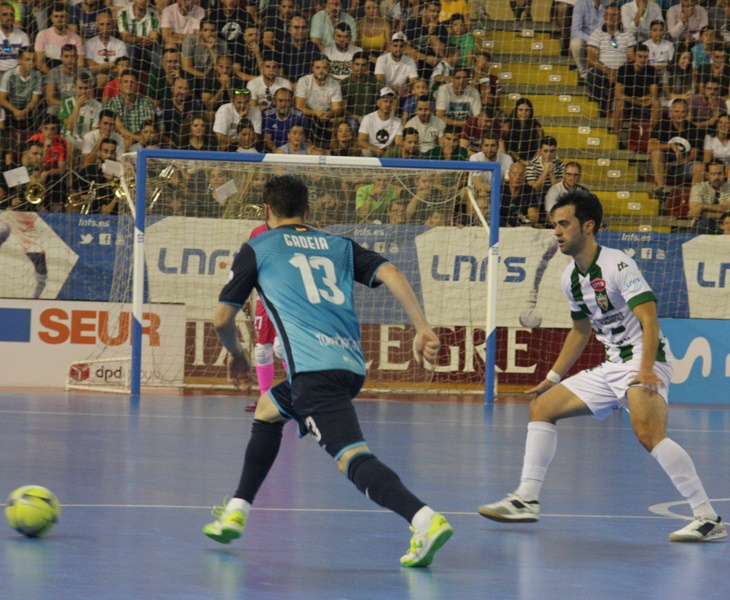 El madrileño Pablo del Moral en el partido frente al Movistar Inter