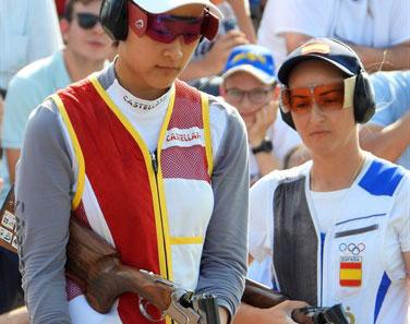 Fátima Gálvez, a la derecha, en una competición de este 2019