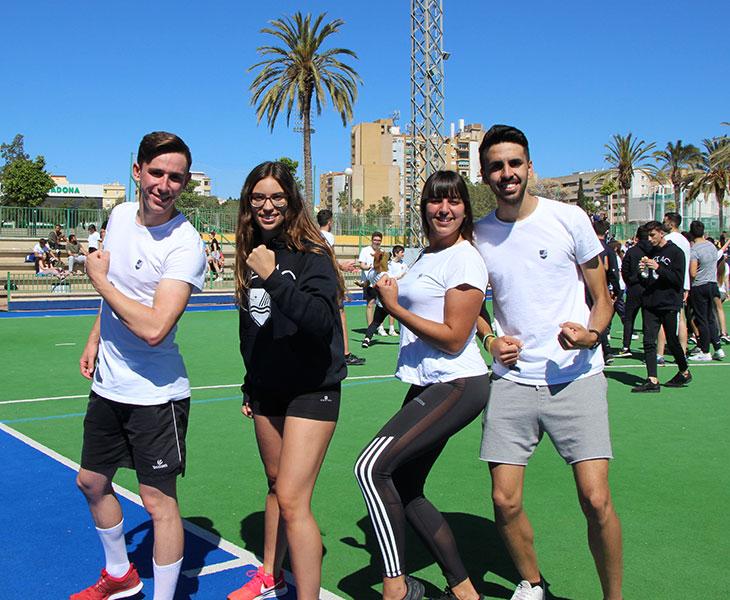 Alumnos de FP Deporte de Instituto MEDAC disfrutando de la Feria del Juego