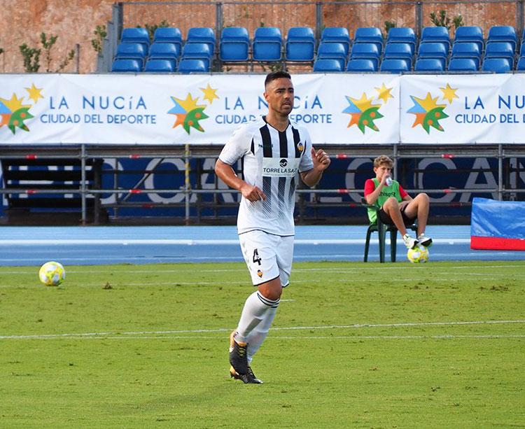 El cordobés Regalón en el partido de su lesión. Foto: CD Castellón