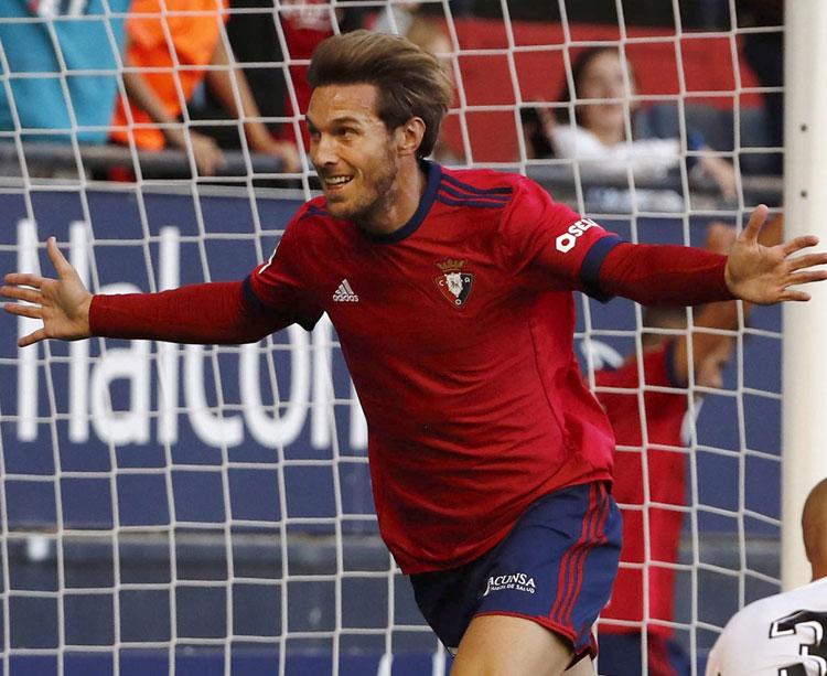 Xisco celebrando un gol con Osasuna. Foto: El Español