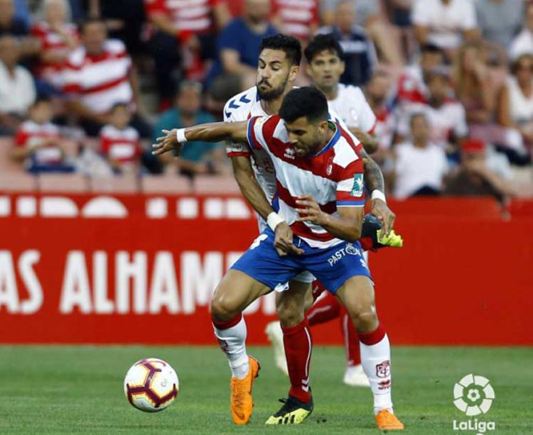 El cordobés Fede Vico en el partido del Granada ante el rayo Majadahonda. Foto: LaLiga