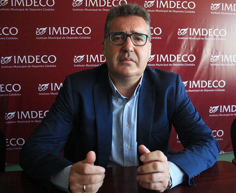 Manuel Torrejimeno en un momento de la entrevista