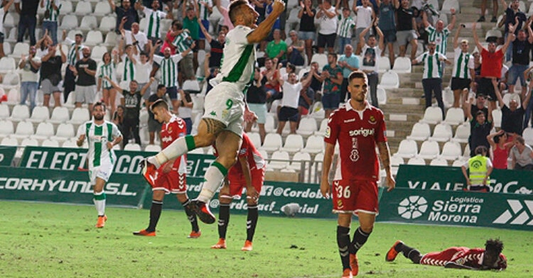 Piovaccari celebrando su segundo gol del curso. Autor: Paco Jiménez