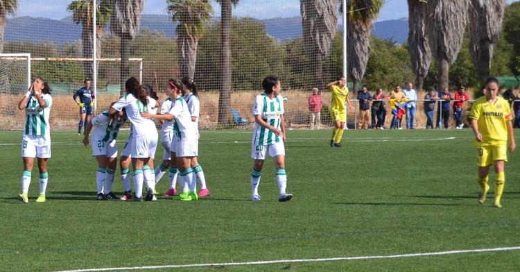 Las jugadoras del Córdoba festejando uno de sus tres tantos. Autor: Javier Olivar