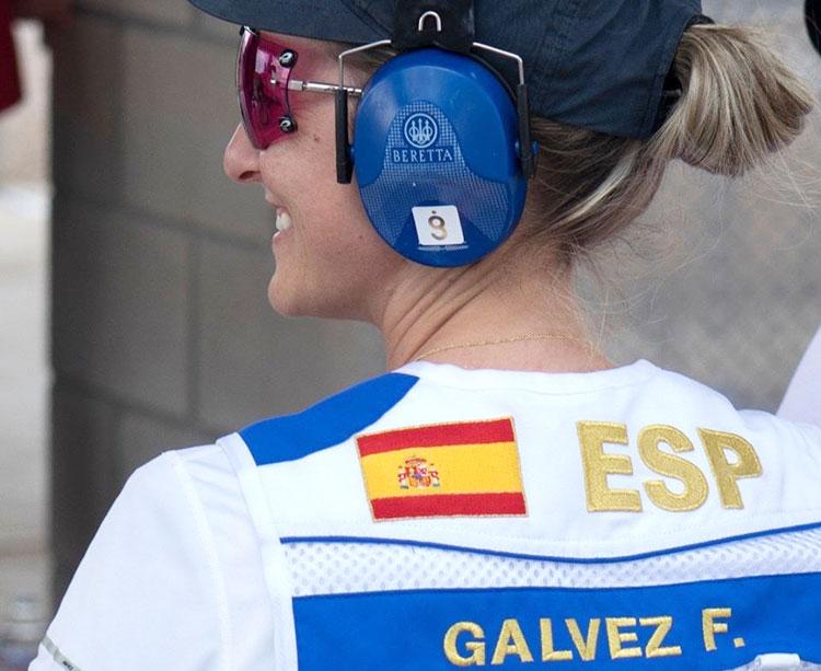 Sonriente. Fátima Gálvez muestra su satisfacción durante el concurso