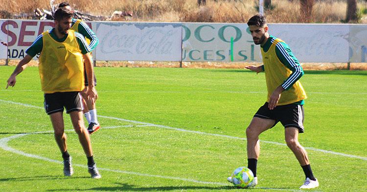 Fernando Román y José Antonio González en un entrenamiento. Autor: Manuel D. Vera