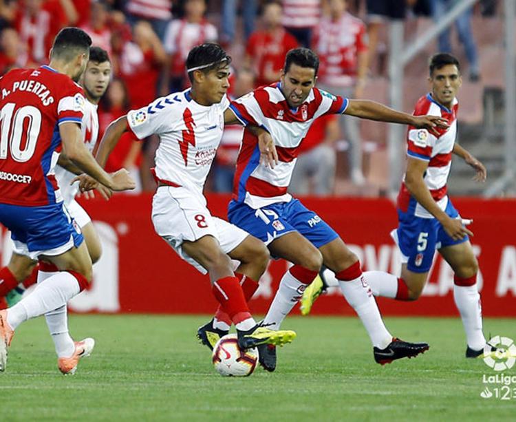 El Granada ganó su último partido en casa pero cayó en su salida A Coruña. Foto: LFP