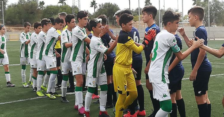 El infantil A del Córdoba, de la Primera Andaluza, es el mejor clasificado entre todos los conjuntos cordobeses por el momento. Foto: Córdoba CF