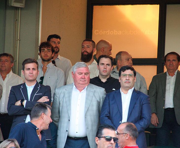 Jesús León junto al secretario de la cordobesa, Rodri, y el seleccionador andaluz femenino Martín Torralbo