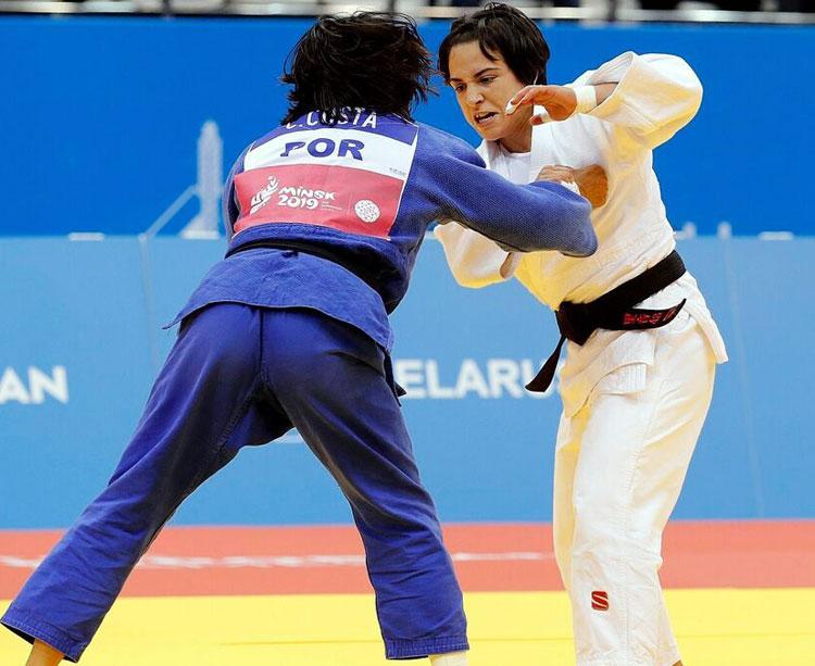 Julia Figueroa en un combate de este 2019. Foto: Federación Internacional de Judo