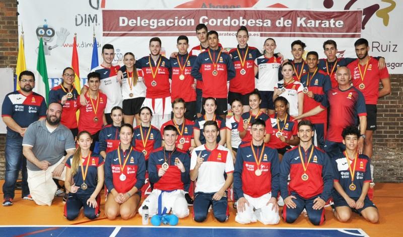 La selección española con César Martínez