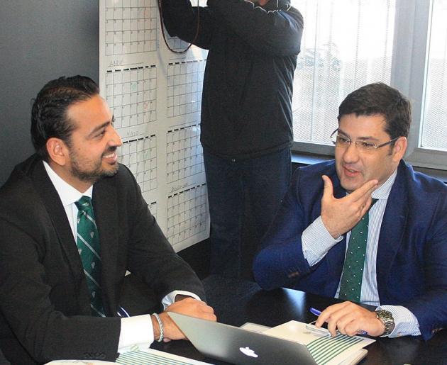 Antonio Romero Campanero junto a Jesús León en otros tiempos del consejo de administración blanquiverde