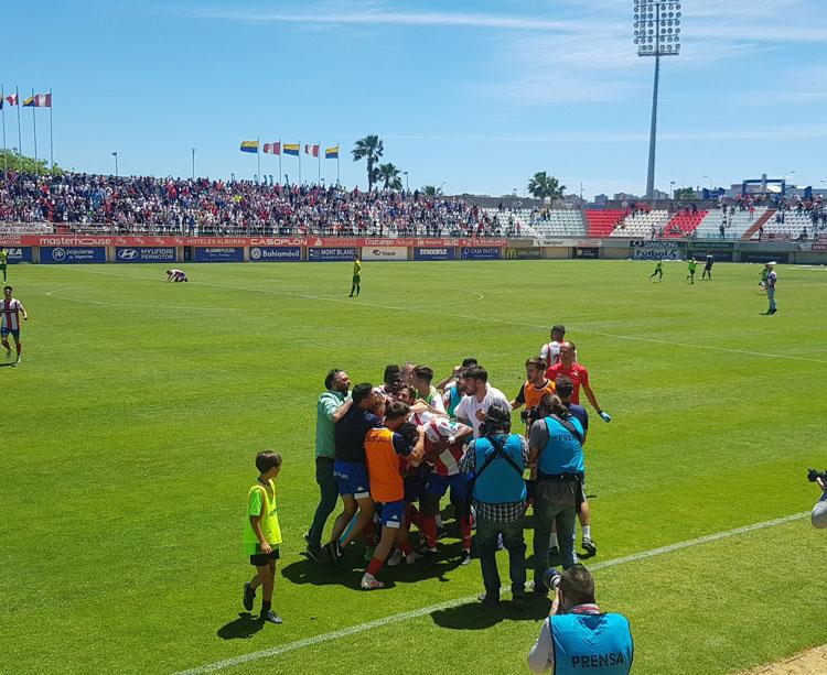 Una imagen del Nuevo Mirador en el partido que clasificó al Algeciras para la última y exitosa fase de ascenso. Foto: Hora Sur
