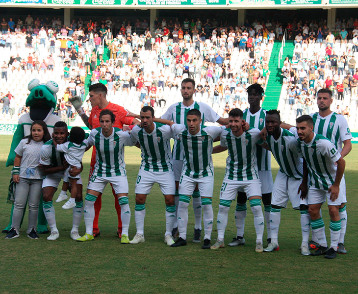 El once inicial del cambio de sistema del Córdoba CF ante el Cádiz B