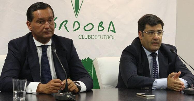 Alfredo García Amado y Jesús León en la comparecencia. Autor: Paco Jiménez