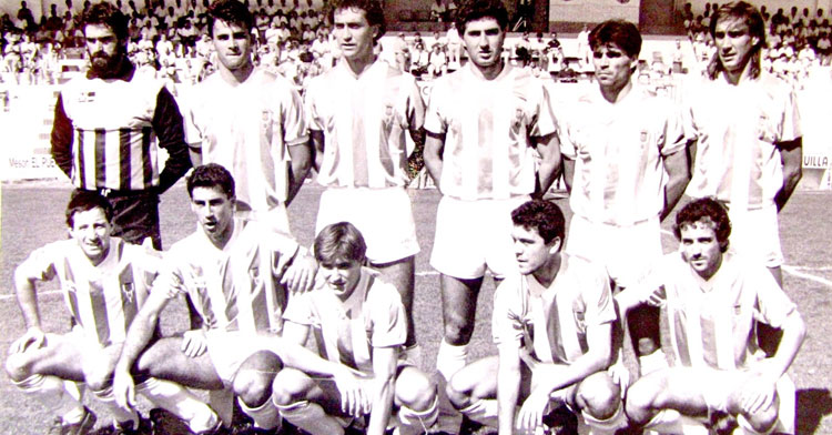 Una formación del Córdoba de la temporada 1988-89, que se midió al Don Benito.Foto: equiposdefutbol2.blogspot.com