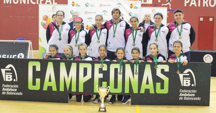 La selección cordobesa de minibasket, campeona de Andalucía