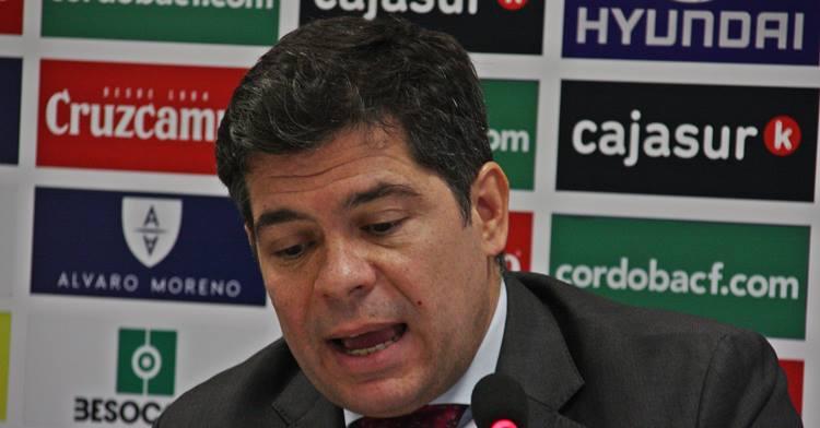 Francisco Estepa en sala de prensa