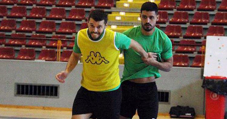 Jesús Rodríguez junto a Juanra en un entrenamiento. Autor: Paco Jiménez