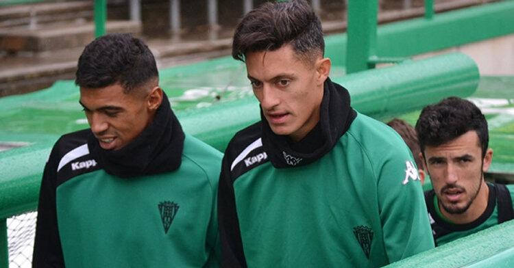 Bruno Montelongo junto a sus ex compañeros del Córdoba CF
