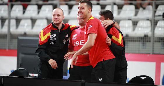 Carlos Machado en una de las eliminatorias recientes de la selección española