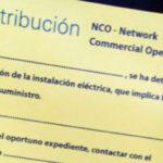 El documento que los empleados de la nueva marca de Endesa pegaron al contador de la Ciudad Deportiva