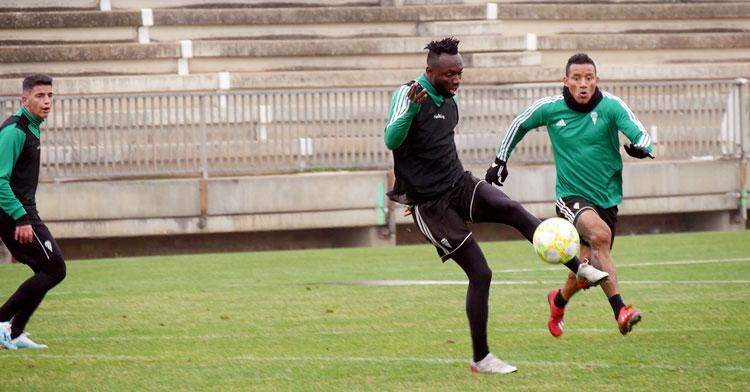 Owusu en una de las sesiones de esta semana. Foto: Córdoba CF