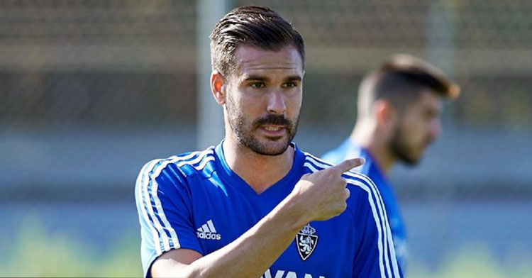 Pichu Atienza en un entrenamiento. Foto: Real Zaragoza