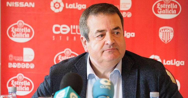 El presidente del Lugo Tino Casés