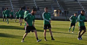 Chus Herrero e Imanol García trabajando en la Ciudad Deportiva. Autor: Paco Jiménez