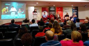 Panorámica del Salón de Actos de la Fundación Cajasur en el comienzo del I Congreso Olímpico de Cordobadeporte.com