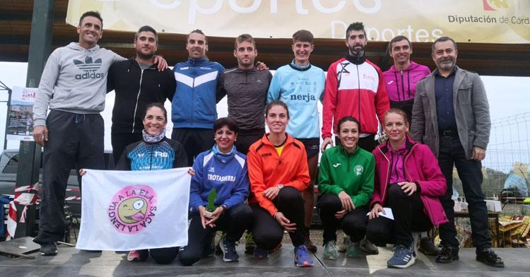 Los ganadores en las diferentes categorías en Guadalcázar. Foto: Club Trotasierra