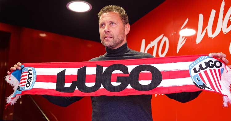 Curro Torres con sus nuevos colores. Foto: CD Lugo