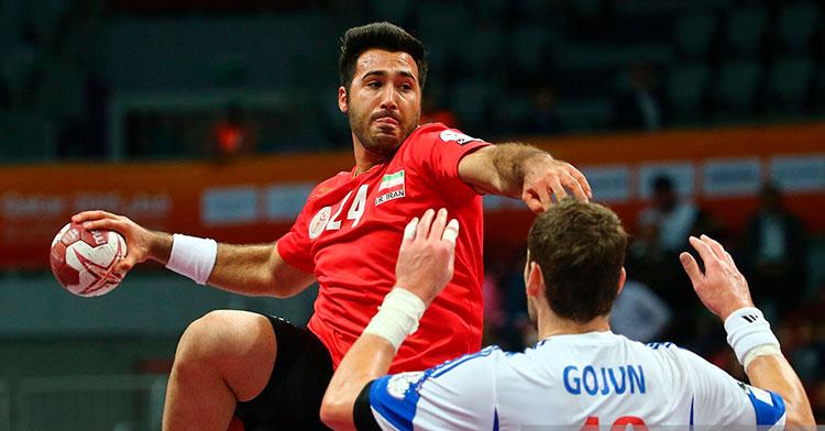 Afshin Sadeghi jugando con Irán