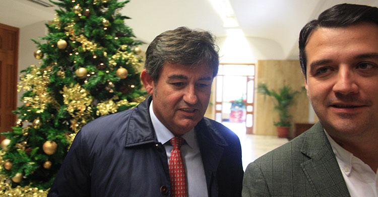 Javier González a la conclusión de la reunión con el alcalde