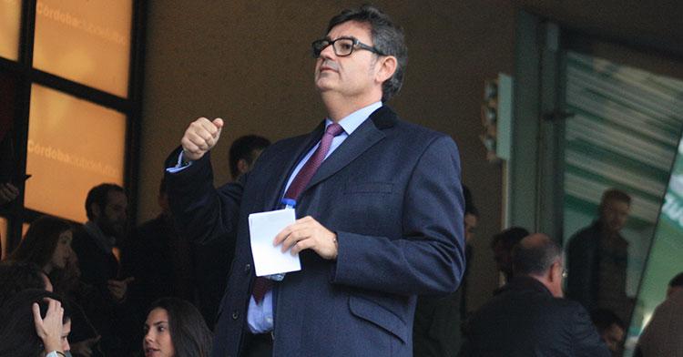 Javier González Calvo en el palco de El Arcángel