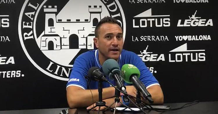 Jordi Roger, entrenador blanquinegro. Foto: RB Linense