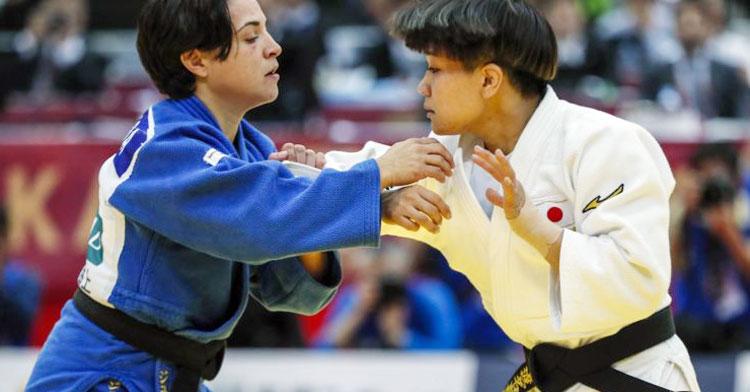 Julia Figueroa en un combate de este 2019