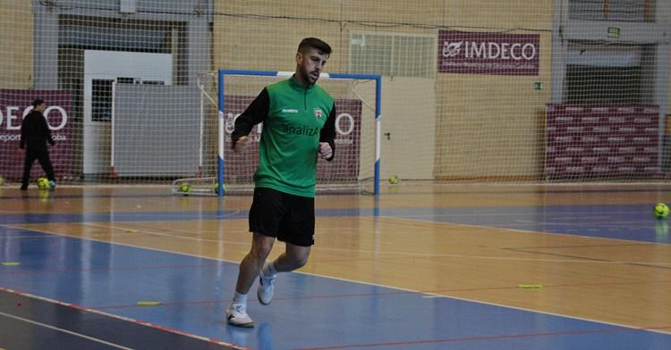 Lolo Jarque en un momento del partido de esta noche en Son Moix. Foto: Palma Futsal