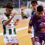 Lolo Jarque y Pablo del Moral presionando a un jugador de Palma