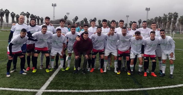 Los jugadores de ambos equipos posando juntos para mandar ánimos al futbolista del B Álex Molina. Foto: @SalermPG