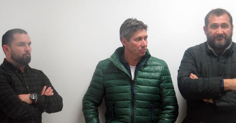 Alfonso Serrano junto a Jorge Rodríguez de Cózar y Rafa Herrerías